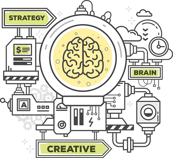 Why we are different machine. Brain power and strategy produces creative.
